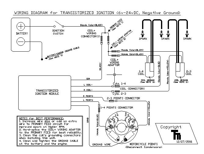 Transistorized Points Ignition 2x transistorized ignition for dual points, sohc4shop com dyna s ignition wiring diagram at bakdesigns.co